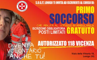 5 Ottobre 2020 – Corso di Primo Soccorso a Lonigo (Vi)