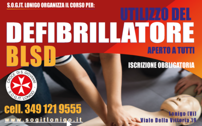 Corso BLSD 25 Settembre 2021 a Lonigo (Vi)