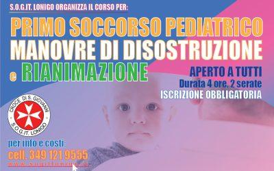 Corso di Primo Soccorso Pediatrico 26 e 27 ottobre a Lonigo (VI)